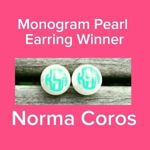 Monogram Pearl Earring Giveaway